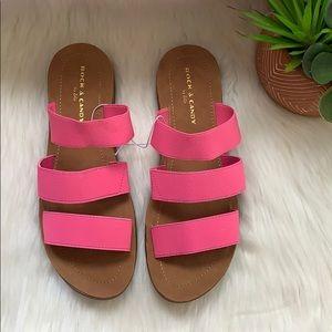 nwob //rock & candy presley tri strap slide sandal